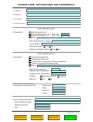 OPM Form 913B Change Form - Recognitions and Agreements