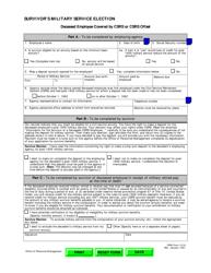 OPM Form 1519 Survivor's Military Service Election