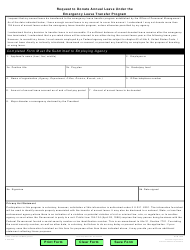 OPM Form 1638 Request to Donate Annual Leave Under the Emergency Leave Transfer Program