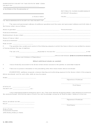 "Form G-10B ""Petition to Close Guardianship Account (Guardian)"" - New York"