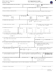 Form CA-6 Official Superior's Report of Employee's Death