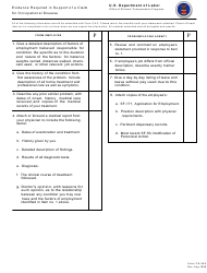 Form CA-35A Evidence Required in Support of a Claim for Occupational Disease