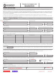 "Form REV-677 ""Power of Attorney and Declaration of Representative"" - Pennsylvania"