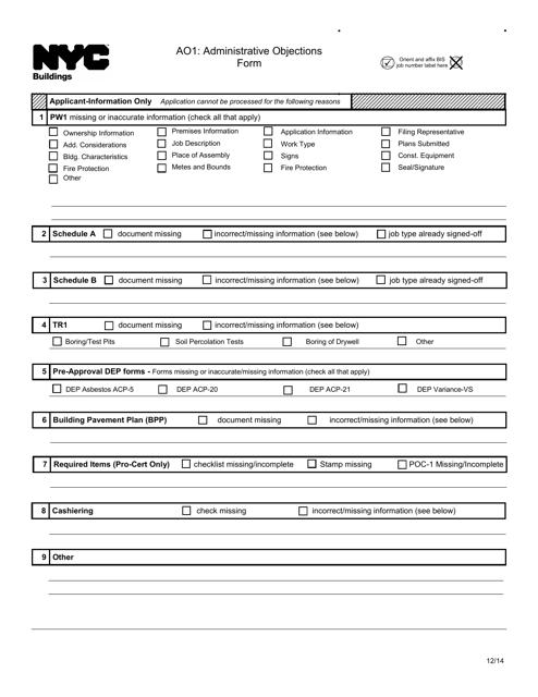 Form AO1  Printable Pdf