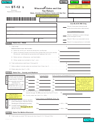 Form ST-12 Wisconsin Sales and Use Tax Return - Wisconsin