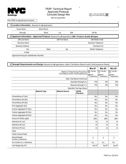 Form TR3P  Printable Pdf