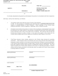 Form FCA 1 Stipulation for Referral to Family Case Analyst - New York