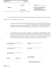 Form FCA 2 Stipulation/Order for Referral to Family Case Analyst - New York