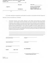 Form FCA 3 Stipulation/Order for Referral to Family Case Analyst - New York