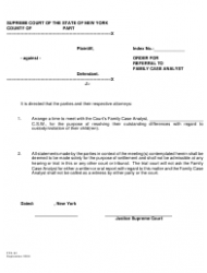 Form FCA 4 Order for Referral to Family Case Analyst - New York