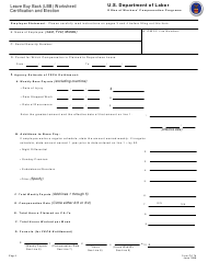 Form CA-7b Leave Buy Back (Lbb) Worksheet/ Certification and Election