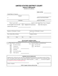 """Notice of Appeal (Criminal)"" - Minnesota"