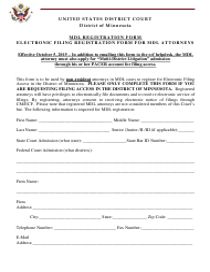 """MDL Registration Form"" - Minnesota"