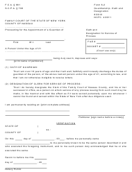 "Form 6-2 ""Oath and Designation for Service of Process"" - Nassau County, New York"