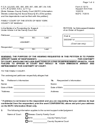 "Form 4-12/13 ""Petition for Enforcement/Violation of an Order of Support"" - Nassau county, New York"