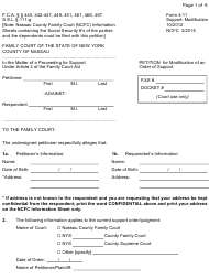 "Form 4-11 ""Petition for Modification of an Order of Support"" - Nassau County, New York"