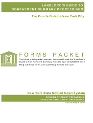 Landlord's Guide to Nonpayment Summary Proceedings - Forms Packet - New York