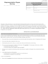 OPM Form RI 38-115 Representative Payee Survey