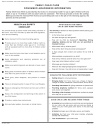 Form LIC 9212 Family Child Care Consumer Awareness Information - California