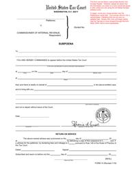 """T.C. Form 14 """"Subpoena"""""""