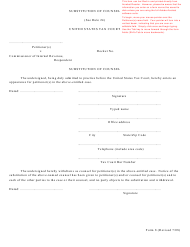T.C. Form 8 Substitution of Counsel