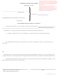 T.C. Form 6 Ownership Disclosure Statement