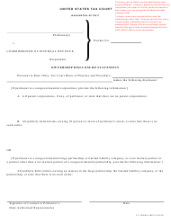"T.C. Form 6 ""Ownership Disclosure Statement"""