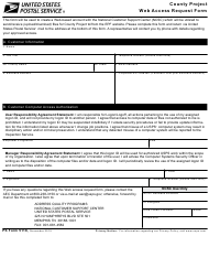 "PS Form 5118 ""County Project Web Access Request Form"""
