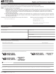 "PS Form 8676 ""Rights and Permissions Application"""