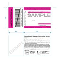 Sample PS Form 153 Signature Confirmation