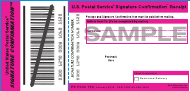 "Sample PS Form 153 ""Signature Confirmation"""