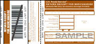 "Sample PS Form 3804 ""Return Receipt for Merchandise"""