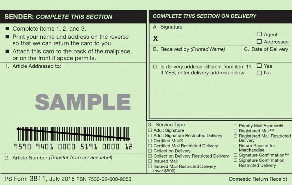 order form 3811  PS Form 9 Download Printable PDF, Domestic Return Receipt ...