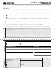 """Ps Form 3811-a """"Request for Delivery Information/ Return Receipt"""""""