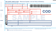 "Sample PS Form 3816 ""Collect on Delivery (Cod) Mailing and Delivery Receipt"""