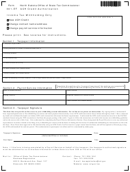Form 301-EF Application for Withholding - Ach Credit Authorization - North Dakota