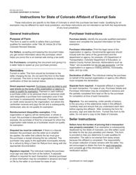 Form DR 5002 Standard Colorado Affidavit of Exempt Sale - Colorado