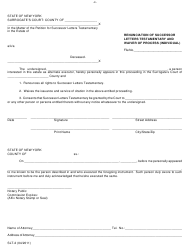 "Form SLT-2 ""Renunciation of Successor Letters Testamentary and Waiver of Process (Individual)"" - New York"