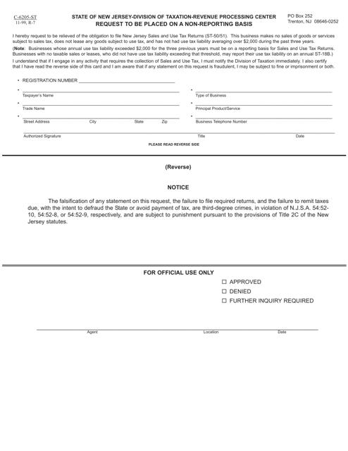 Form C-6205-ST Fillable Pdf