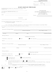 "Form CTA-1 ""Petition for Letters of Administration C.t.a After Probate Scpa 1418 and 1419"" - New York"