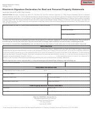 Form 3976 Electronic Signature Declaration For Real And Personal Property Statements - Michigan