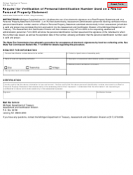 Form 3979 Request for Verification of Personal Identification Number Used on a Real or Personal Property Statement - Michigan