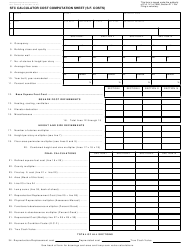 Form 621 Stc Calculator Cost Computation Sheet (S.f. Costs) - Michigan