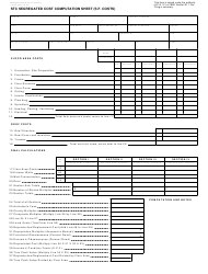 Form L-4105 Stc Segregated Cost Computation Sheet (s.f. Costs) - Michigan
