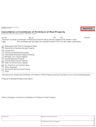 Form 3839 Cancellation Of Certificate Of Forfeiture Of Real Property - Michigan