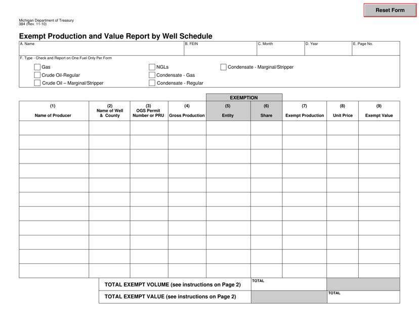 Form 384  Printable Pdf