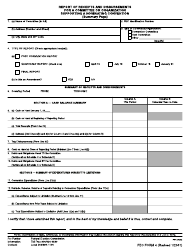 """FEC Form 4 """"Report of Receipts and Disbursements for a Committee or Organization Supporting a Nominating Convention"""""""