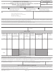 "TTB Form 5620.7 ""Claim for Drawback of Tax on Tobacco Products, Cigarette Papers, and Cigarette Tubes"""