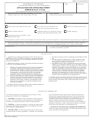 "TTB Form 5110.25 ""Application for Operating Permit Under 26 U.s.c. 5171(D)"""