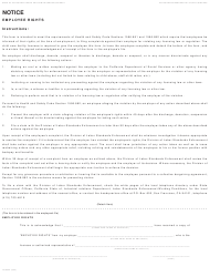 "Form LIC9052 ""Notice Employee Rights"" - California"